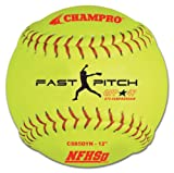 CHAMPRO NFHS Synthetic Cover, Red Set (Optic Yellow) (Pack Of 12)