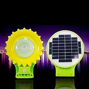 ZOOGLV LED Light Solar yard light Solar Wall Light - Courtyard Deck Night Lights,Solar Street Light,Street Solar Light 6Watt high light