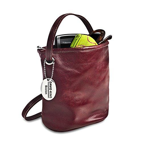 Mini Top Zip Mini Bag - David King & Co. Florentine Top Zip Mini Bag 3512 Blue, Cherry, One Size