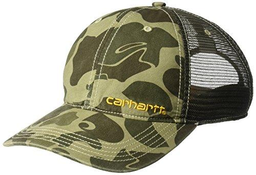 Camo Mesh Back Baseball Cap - Carhartt Men's Brandt Camo Mesh Back Cap, Burnt Olive, OFA