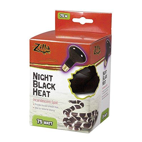 (Zilla Reptile Terrarium Heat Lamps Incandescent Bulb, Black Spot, 75W)