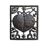 Veve Erzulie Dantor, Defender of Women and Children, Sacred Heart, Handmade in Haiti, Metal Wall Decor, 17″ x 20 3/4″ Review