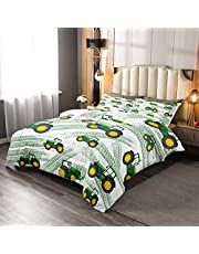 Feelyou Cars Comforter Set Cute Monster Truck Bedding Set for Kids Boys Heavy Machinery Equipment Comforter Cool Vehicle Modified Colorful Decor Quilt Set Bedroom Collection 2Pcs Twin Size