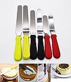 13 in angled spatula - Cake Icing Spatula 6pcs/set with Silicone Handle, KOOTIPS 11