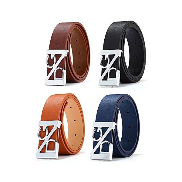 Firally Unisex Moda Cintura in Pelle con Fibbia Automatica Cinture Elegante per Jeans,Pantaloni Casual o Formali 3 spesavip