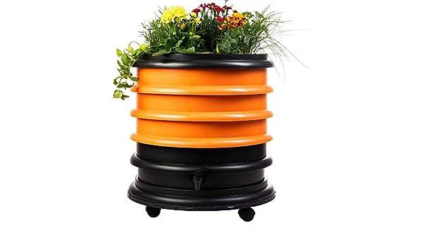 56 litros Vermicompostador 3 bandejas Naranja Jardinera WormBox