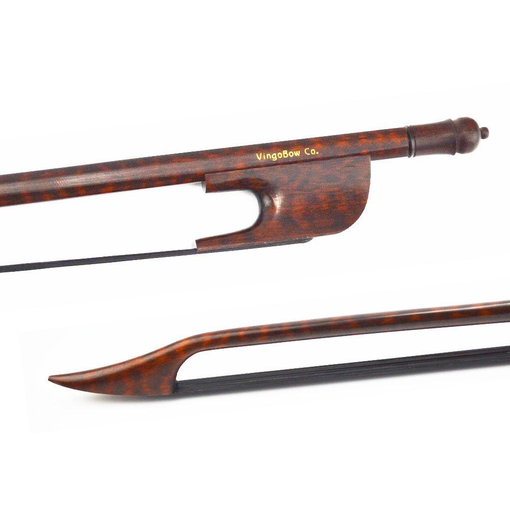 VingoBow New Full Size Black Horse Hair Snakewood Baroque Violin Bow Wild Sound Easier Controal. Art No.610VB
