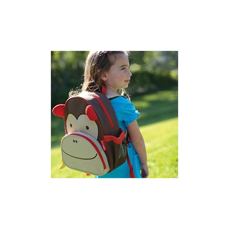 "Skip Hop Toddler Backpack, 12"" Monkey School Bag, Multi"