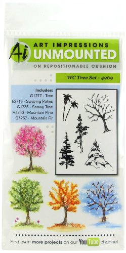 Art Impressions 4269 Watercolor Series WC Tree Set Rubber Stamp by Art Impressions