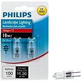 Philips 417212 Landscape Lighting 10-Watt T3 12-Volt Bi-Pin Base Light Bulb, 2-Pack