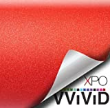 VViViD Red Diamond Matte Stretch Vinyl Wrap Film Roll Decal Sheet DIY Easy to Use Air-Release Adhesive (1ft x 5ft)