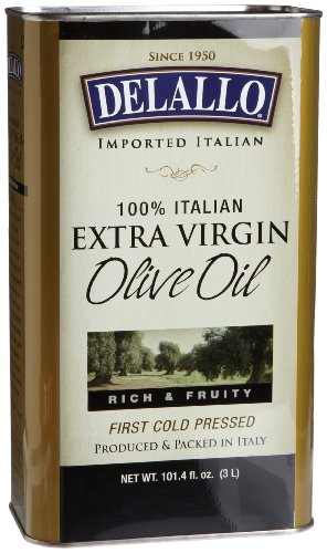 DeLallo Extra Virgin Olive Oil, 3-Liter Cans (Pack of 4) Delallo Olives