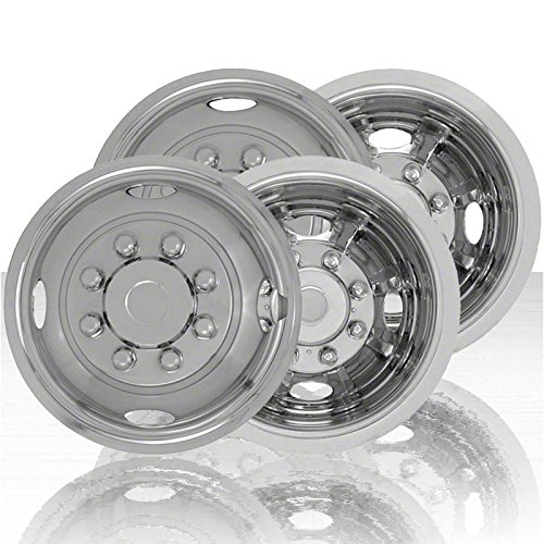 - Upgrade Your Auto Set of Four 16' Stainless Steel 8 Lug 4 Hole/8 Lug Wheel Simulators (Push-on)