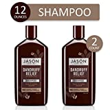 JASON Natural Cosmetics Dandruff Relief Shampoo, 12 Ounces (Pack of 2)
