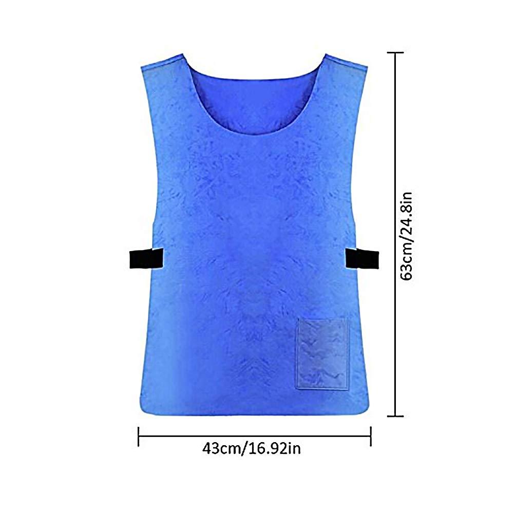 CDKJ Verano Fresco del Hielo Ropa de protecci/ón Solar del Deporte del Chaleco de los Deportes al Aire Libre Hombres Corrientes de Trabajo