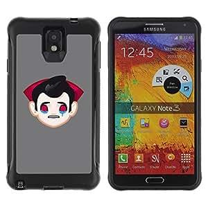 Hybrid Anti-Shock Defend Case for Samsung Galaxy Note 3 / Sad Vampire Dracula
