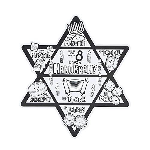 Fun Express - Cyo 8 Days of Hanukkah Poster for Hanukkah - Craft Kits - CYO - Paper - Misc CYO - Paper - Hanukkah - 30 Pieces ()