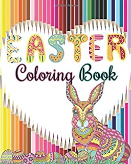 Easter Coloring Book Designs For Relaxation