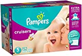 Pampers Cruisers Disposable Diapers Size 5, 152 Count, ONE MONTH SUPPLY