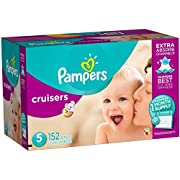 Pampers Cruisers Disposable Diapers Size 5, 152 Count, ONE MONTH SUPPLY (Product Designs May Vary)
