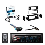 Pioneer CD Bluetooth Receiver W/Enhanced Audio Functions with SiriusXM Satellite Radio Vehicle Tuner Kit, Metra Dash Kit For GM Truck And Van 95-05, Metra Radio Wiring Harness, Metra Antenna Adapter