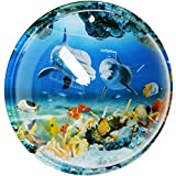 SupperAcryilc - 1 Gallon Wall Hanging Mount Bubble Bowl Acrylic Fish Tank Transparent Bubble Aquarium Home Decoration Pot Smooth Surface With Undersea World Background
