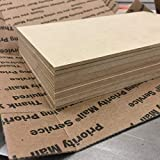 """4"""" x 6"""" MDF Panels (12 pieces) 3 mm perfect for"""
