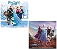 Frozen - Frozen II - Disney Original Soundtrack 2 CD Album Bundling
