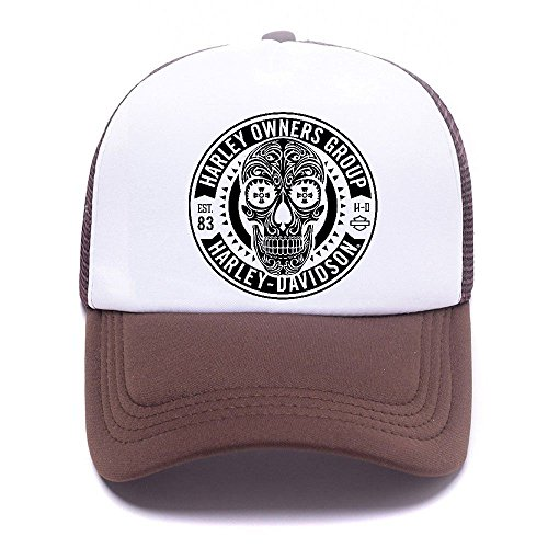 Harley D Black Baseball Caps Gorras de béisbol Trucker Hat Mesh Cap For Men Women Boy Girl 010 Brown