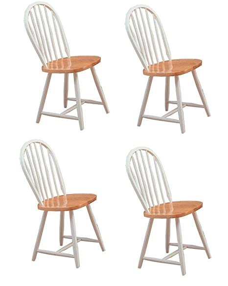 Sensational Hesperia Windsor Dining Side Chairs Natural Brown And White Set Of 4 Pdpeps Interior Chair Design Pdpepsorg