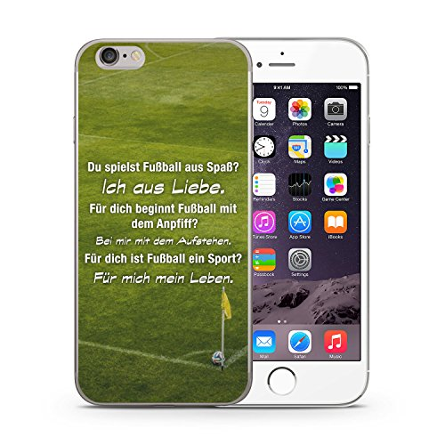 Fußball Liebe iPhone 6 PLUS & 6S PLUS SLIM Hardcase Hülle Cover Case Schutz Schale Fussball Spruch Sprüche Motivation Sport