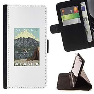 Momo Phone Case / Flip Funda de Cuero Case Cover - Montañas Estado Seward Usa Naturaleza - Samsung Galaxy Note 5 5th N9200