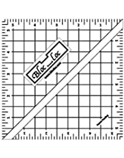 "Bloc Loc~5.5"" Half Square Triangle Ruler, Acrylic Ruler"