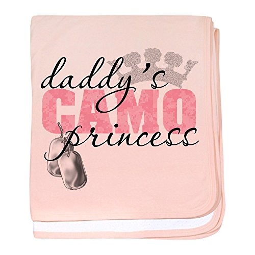 Daddy Camo Blanket (CafePress - Daddy's Camo Princess - Baby Blanket, Super Soft Newborn Swaddle)