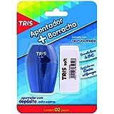 Apontador com Borracha, Tris, 7897476681078, Multicor, pacote de 2