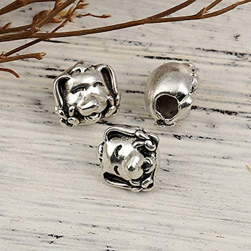 """PEPPERLONELY 10pc Antiqued Silver Alloy Dog Animal Charms Pendants 12 x11mm(4/8"""" x 3/8"""")"""