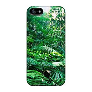 Cute Appearance Cover/tpu WGLHX5164UBPkD Rain Forest Case For Iphone 5/5s