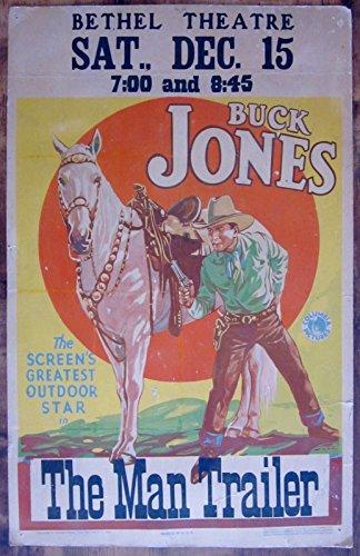Top buck jones gun poster