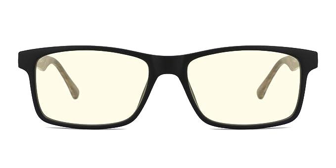 59791f47c0 TIJN Lunettes anti Lumière bleue Anti fatigue oculaire Monture Lunettes de vue  pour Ordinateur pour Femme