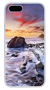 iPhone 5S Case, iPhone 5 Cover, iPhone 5S Coastal Hard White Cases