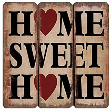 Amazon.com: Home Sweet Home (diseño de corazones) – pared de ...