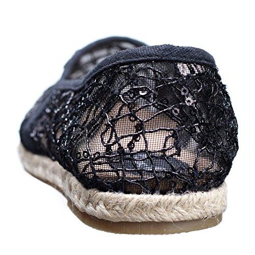 E05 Espadrilles Noir S Femme Creamberry t1xwRqgg