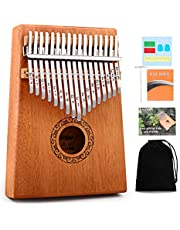 $23 » Kalimba Thumb Piano,YUNDIE Potable 17 Keys Mbira Finger Piano with Tune Hammer and Study Instruction,Musical Instruments Gift for Kid Adult Beginners Professional