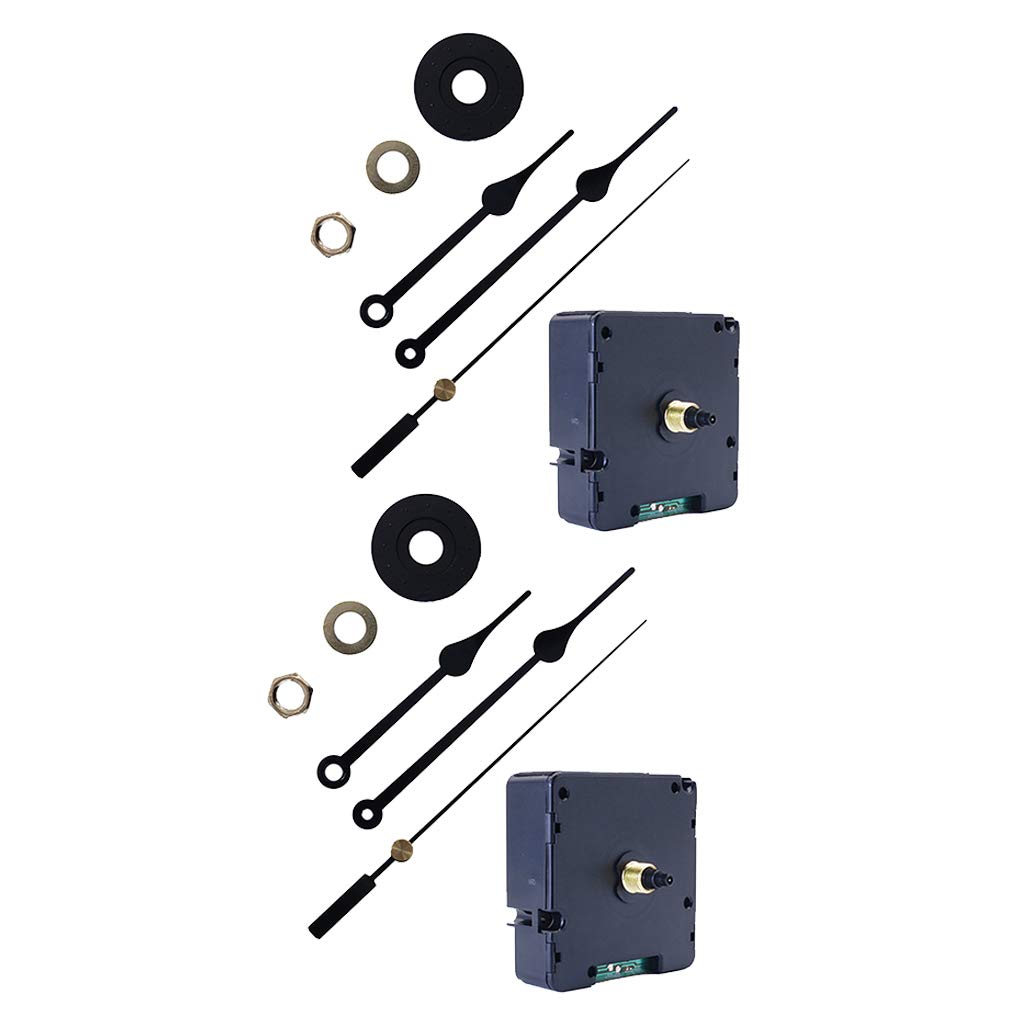 CUTICATE 2Pcs DIY Atomic Radio Controlled Wall Quartz Mechanism Movement Repair Replacement, Thread Length 6.7mm