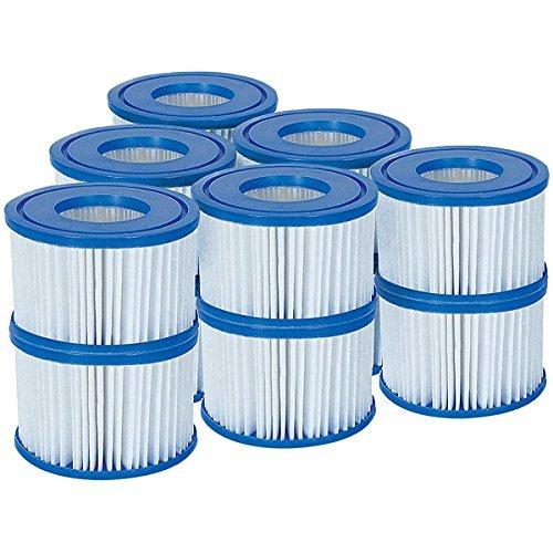 Bestway 58323 Lay-Z-Spa Filter Cartridge Size VI, 6 x Twin Pack