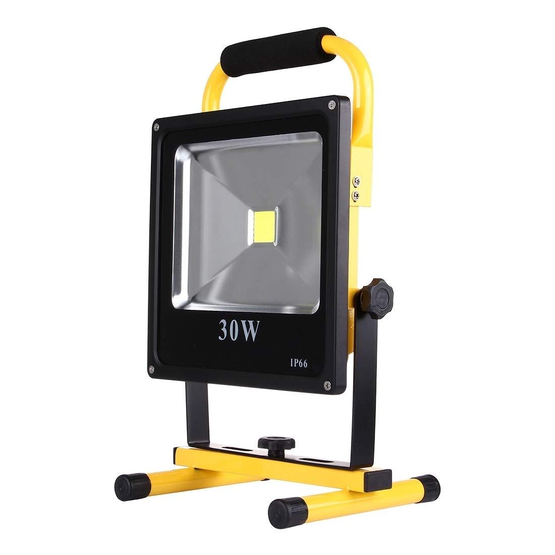 屋外ライト 30W 2700LMの生命防水LED再充電可能で細い手持ち型のフラッドライトランプ、AC 100-240V 太陽動力を与えられた行動センサーの屋外ライト   B07SPS12CR
