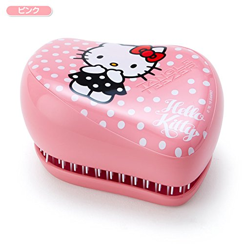Price comparison product image Sanrio Hello Kitty hairbrush Tangle Teaser compact Styler pink From Japan New