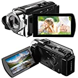 Camcorder, HAMSWAN Digital Camcorder Full HD Video Camera 1080P 24MP, 16X Digital Zoom, 3.0 Inch LCD Screen with 270 Degree Rotation, HDMI Output