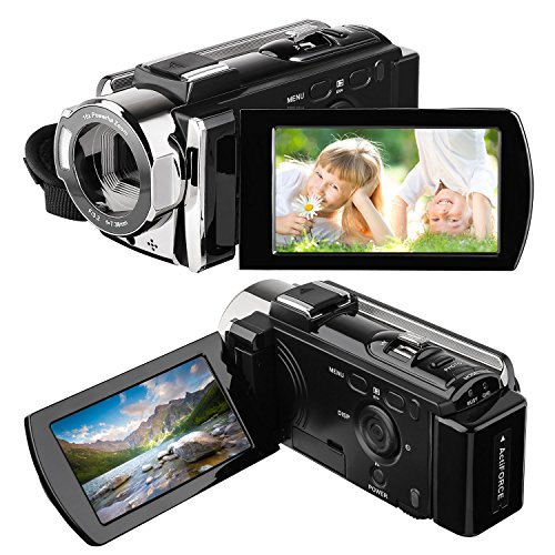 Camera Camcorder, HAMSWAN Full HD Camcorder, 1080P 24MP, 16X Digital Zoom,...