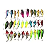 FClearup1991 HOT!Lot 30pcs Trout Spoon Metal Fishing Lures Spinner Baits Bass Tackle Colorful